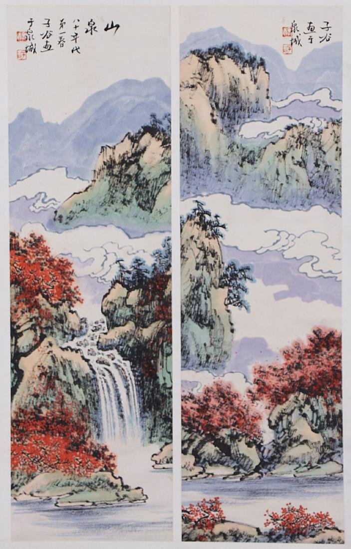 A CHINESE PAPER PAINTING BY LIU, ZIGU