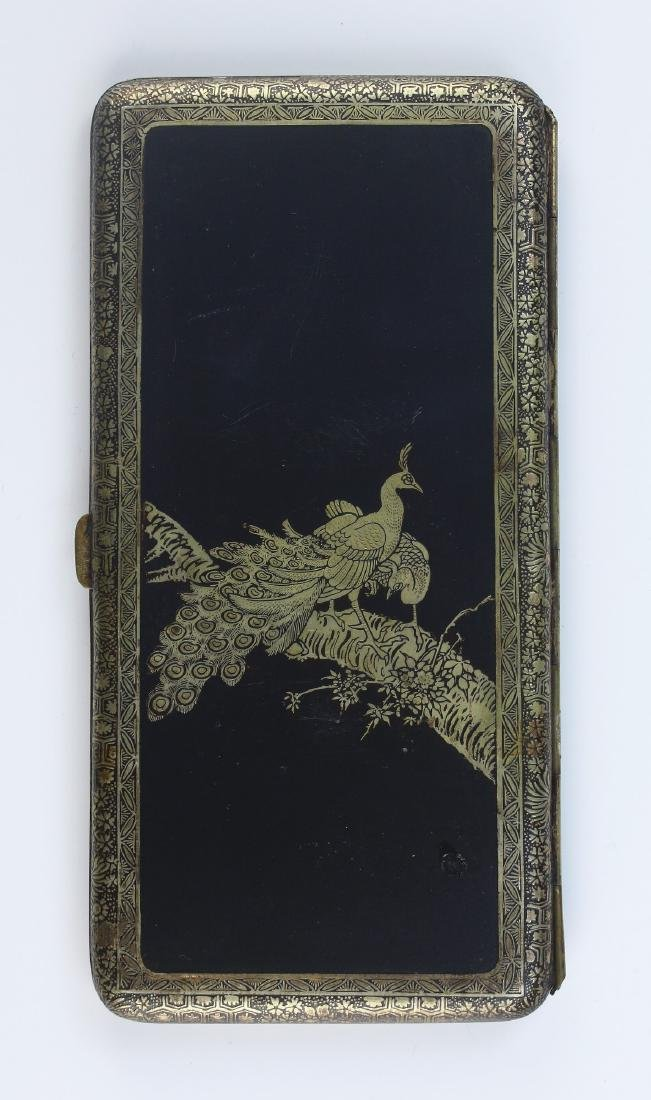 A JAPANESE GILT INLAID CIGARETTE CASE - 3