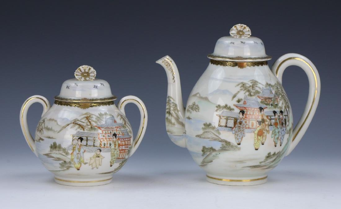 TWO (2) JAPANESE FAMILLE ROSE TEA POTS