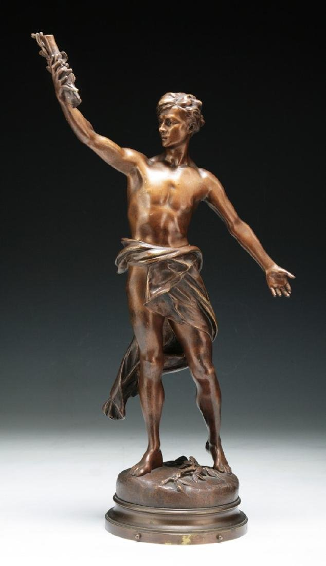 A BIG MADRASSI BRONZE FIGURE BY LUCA MADRASSI