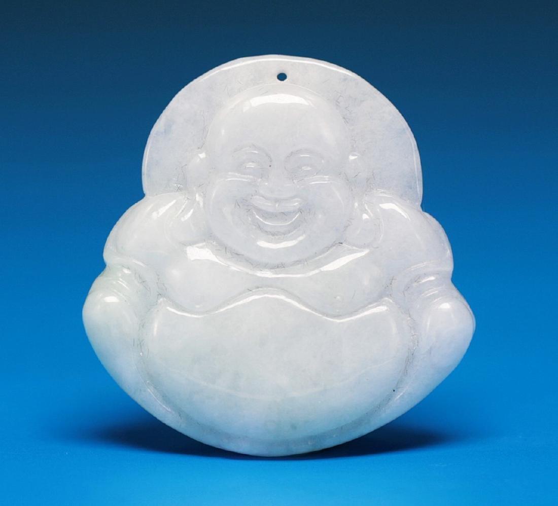 A CHINESE JADEITE PENDANT OF BUDDHA