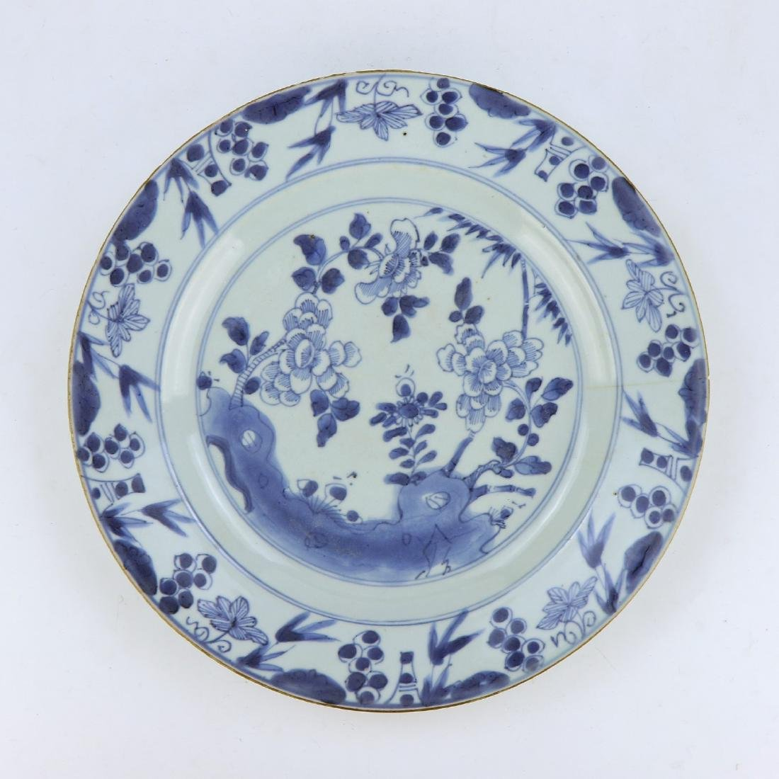 A BIG CHINESE BLUE & WHITE PORCELAIN PLATE