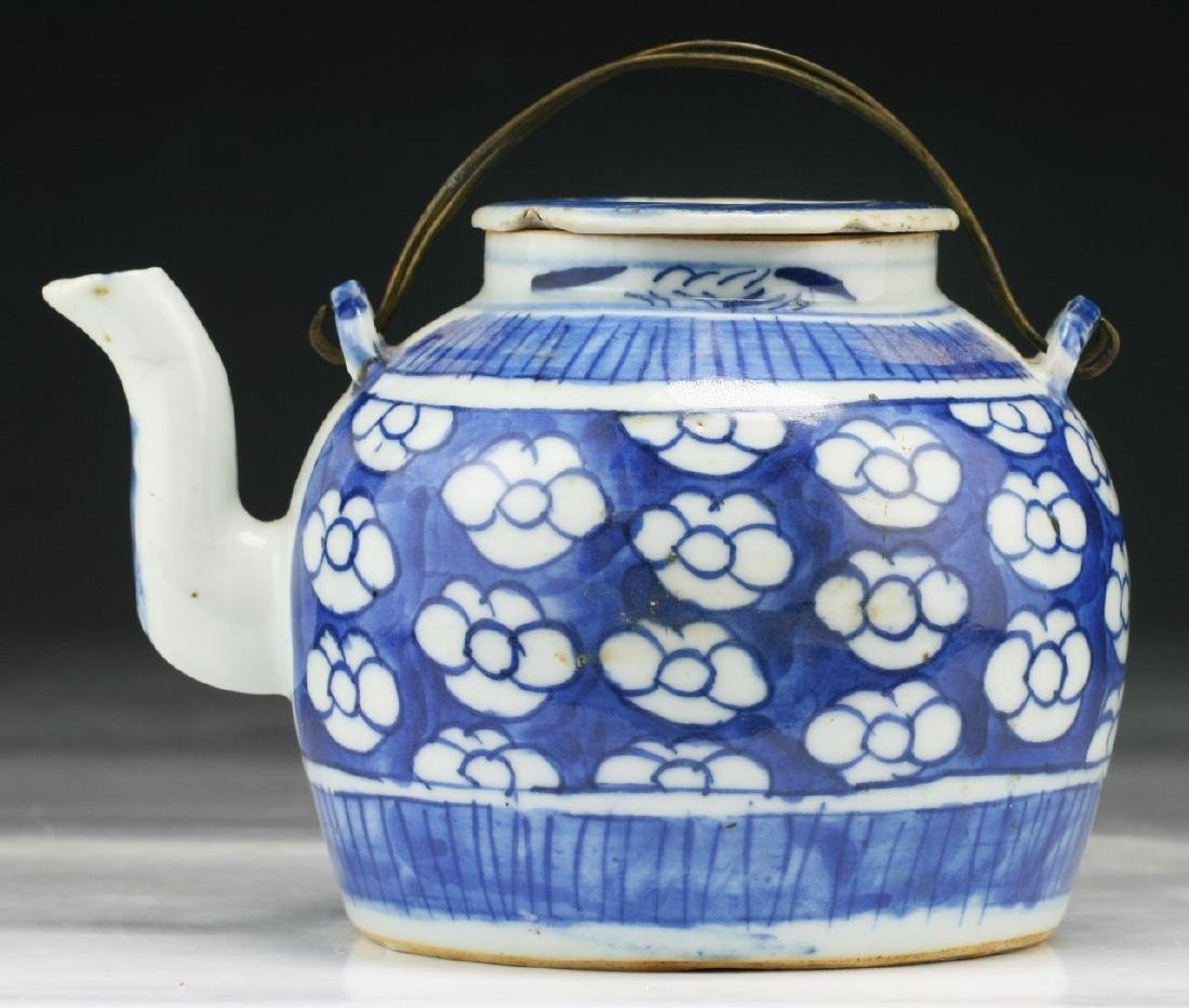 A Chinese Blue & White Porcelain Teapot