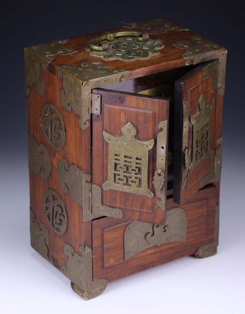 A Chinese Rosewood Jewelry Box