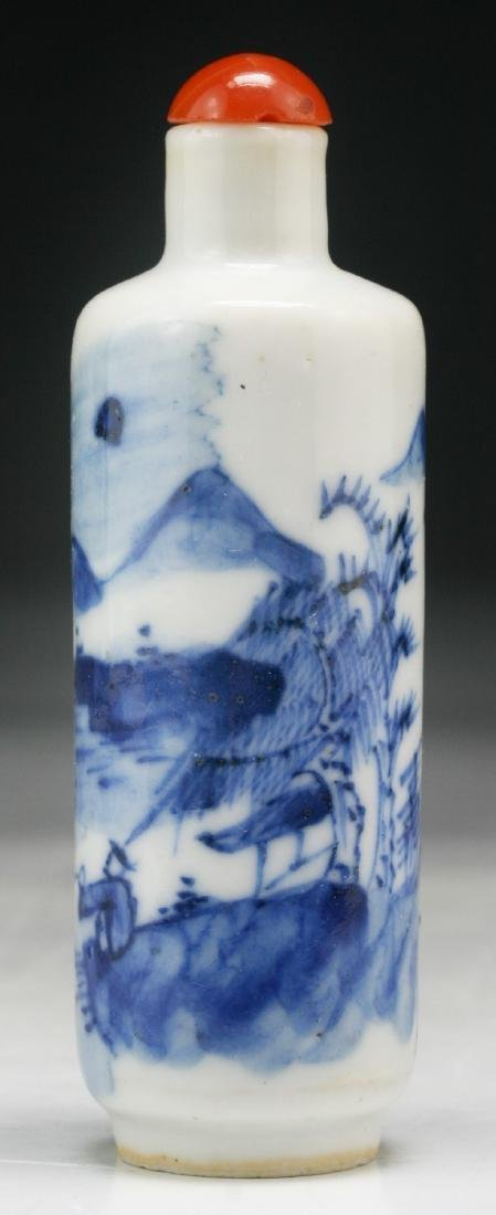 A Chinese Blue & White Porcelain Snuff Bottle