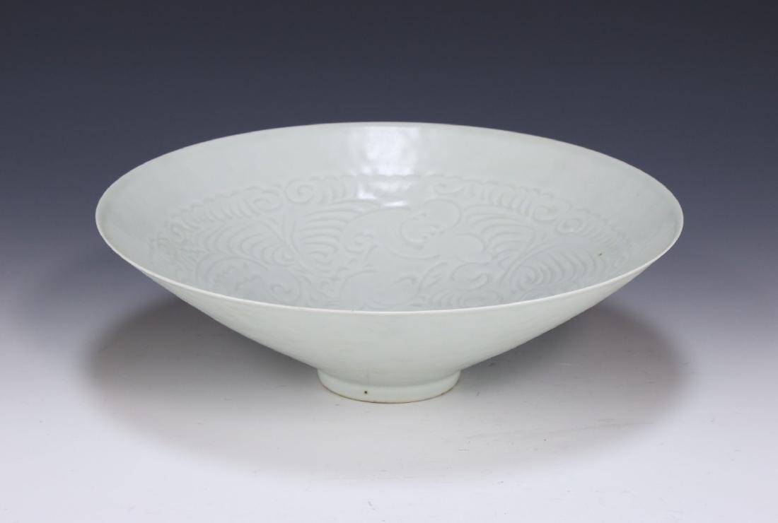 A CHINESE DINGYAO INCISED PORCELAIN BOWL