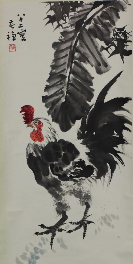 A CHINESE PAPER HANGING PAINTING SCROLL BY LI, KUCAN