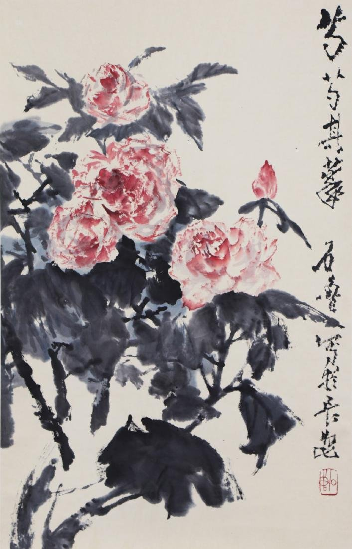 A CHINESE PAPER PAINTING BY SHI, LU