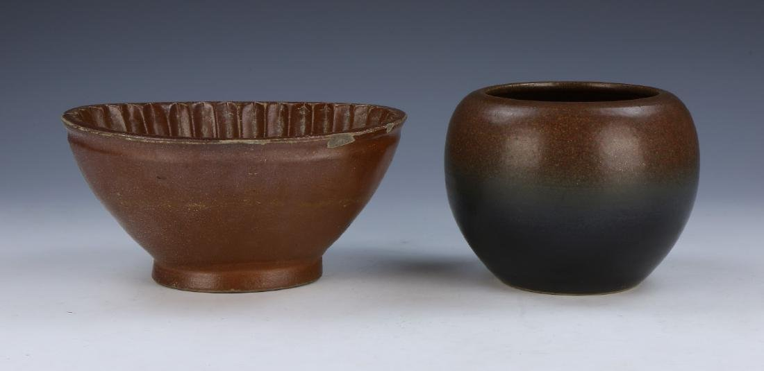 TWO (2) JAPANESE EARTHWARE BOWLS