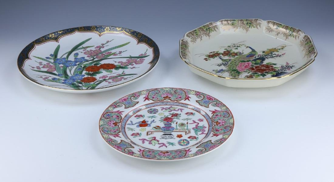 THREE (3) CHINESE PORCELAIN PLATES