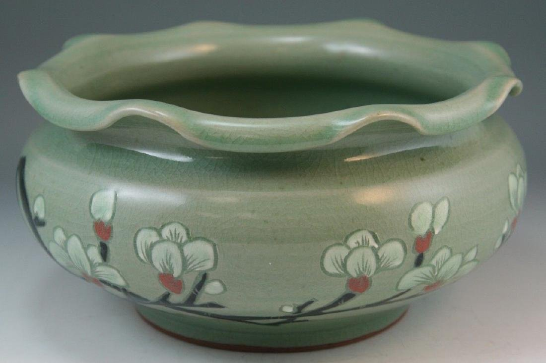 Korean Celadon Glaze Porcelain Washer