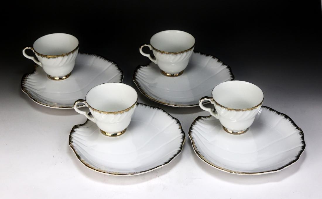 Four (4) Sets Regal Porcelain Cups & Saucers