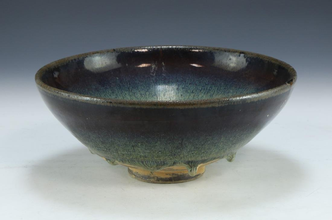 A CHINESE FLAMBE GLAZED PORCELAIN BOWL