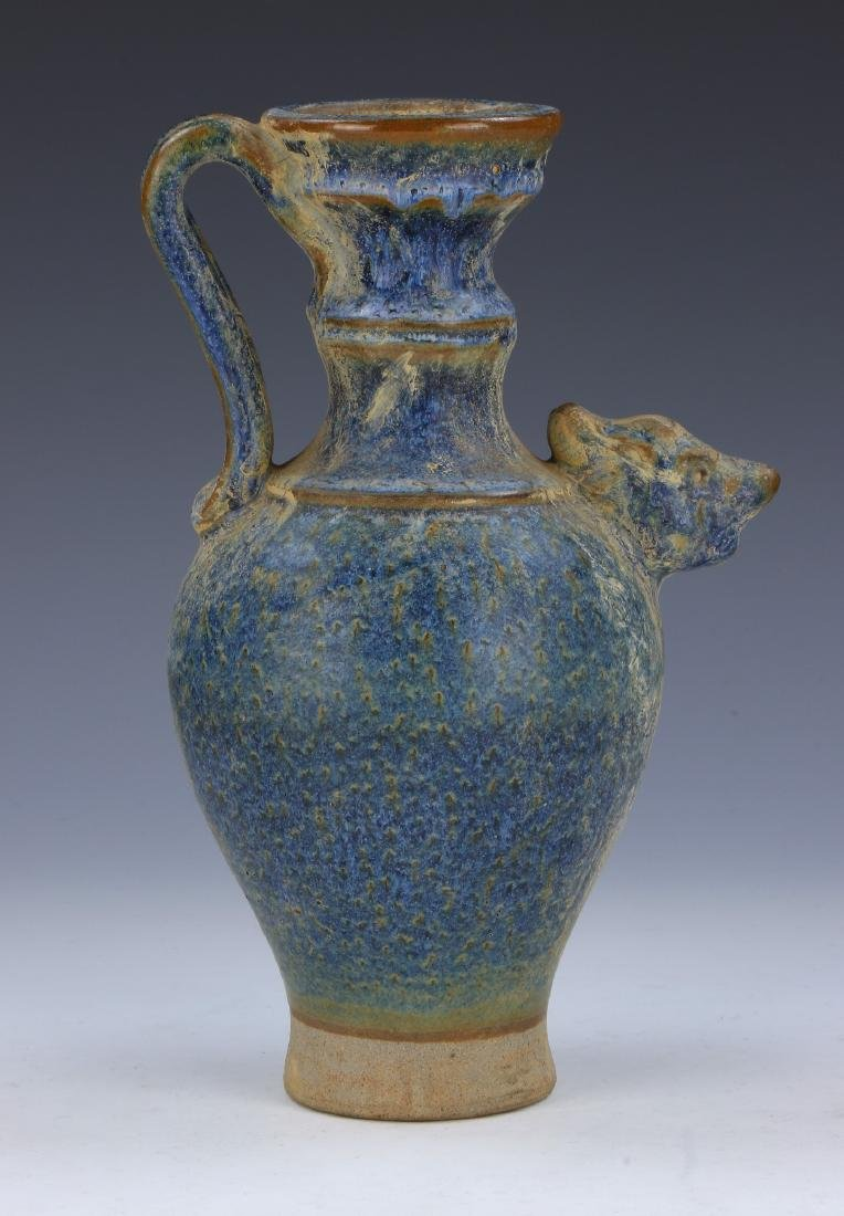 A CHINESE BLUE GLAZE PORCELAIN VASE