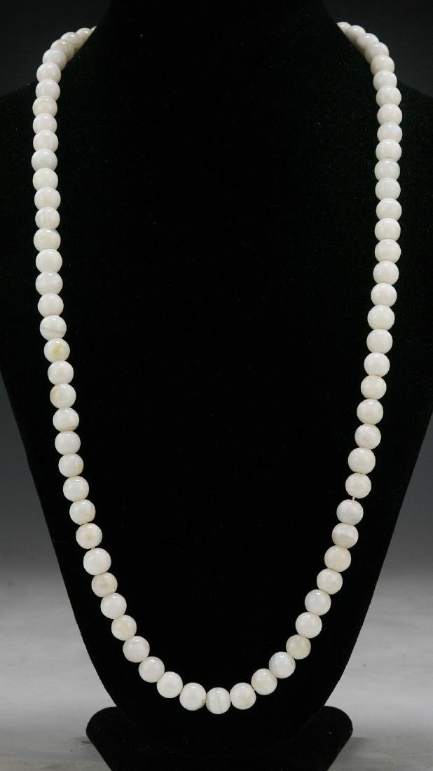 A PEARL & TURQUOISE BEADED NECKLACE