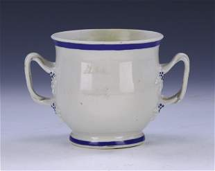A CHINESE BLUE WHITE PORCELAIN CUP