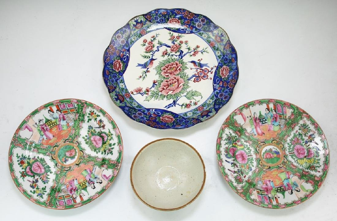 Four (4) Chinese & Japanese Porcelain Plates & Bowls