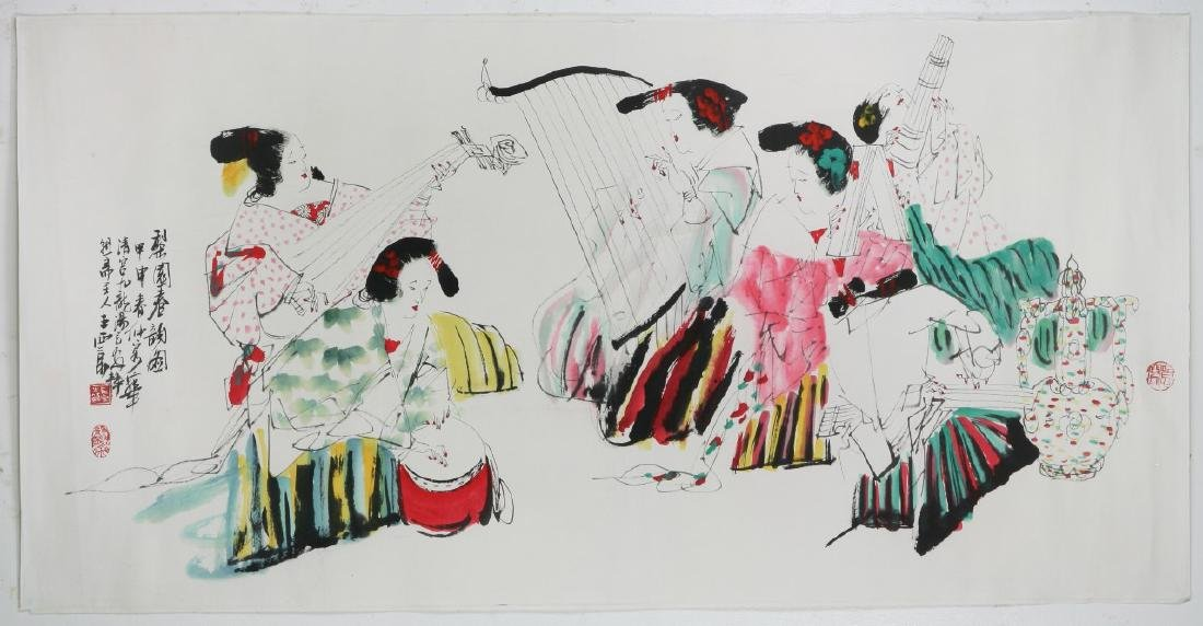 A CHINESE UNMOUNTED PAPER PAINTING BY WANG, XIJING