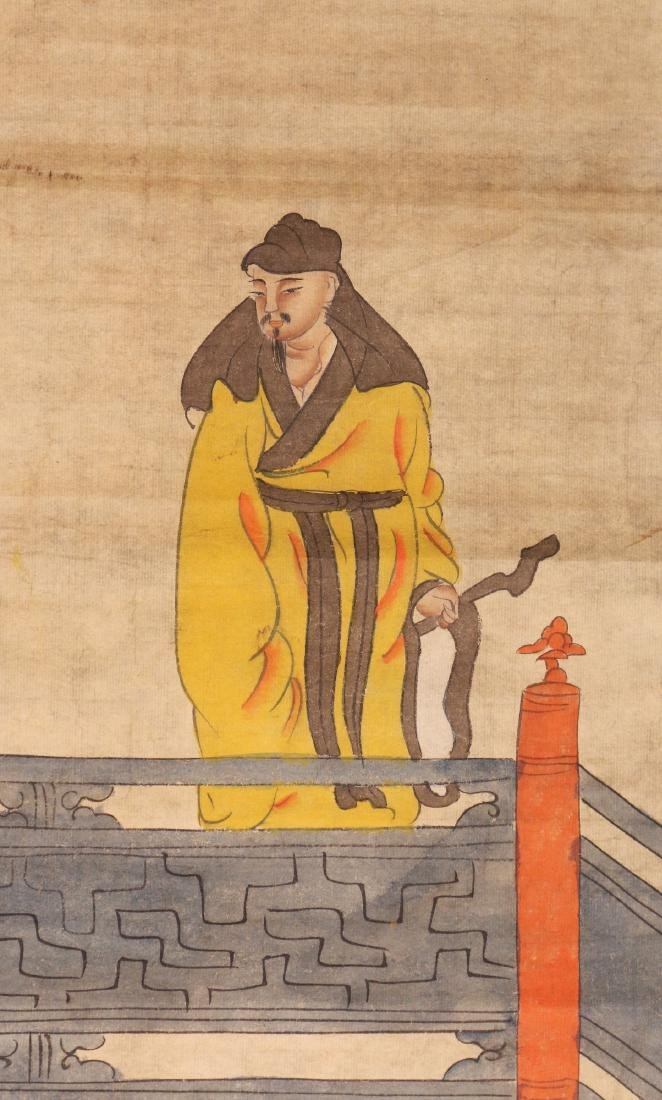 A Chinese Paper Painting Hanging Scroll - 2