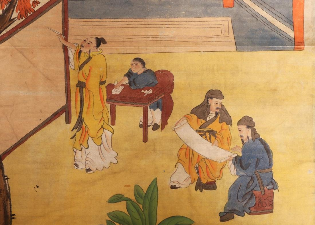A Chinese Paper Painting Hanging Scroll - 3