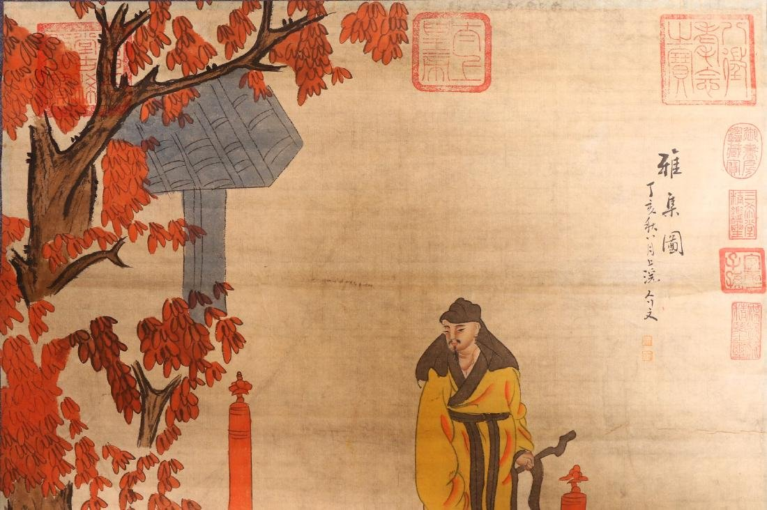 A Chinese Paper Painting Hanging Scroll - 4