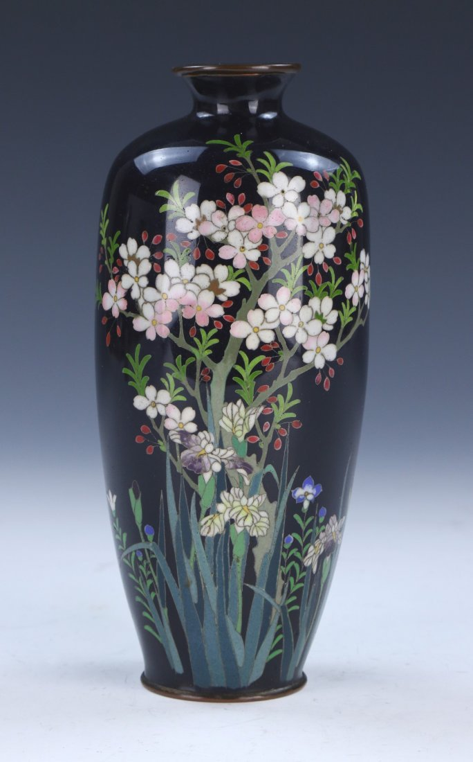 A Japanese Silver Ando Cloisonne Vase