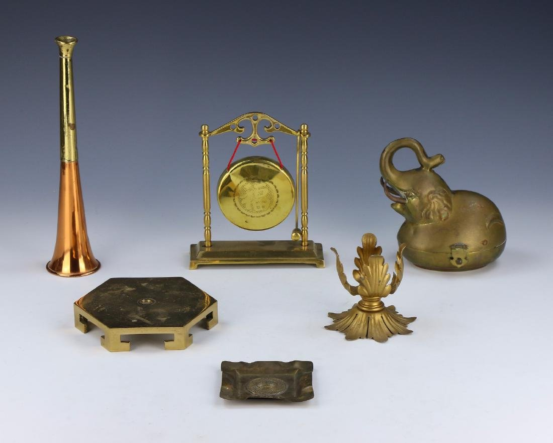 A GROUP OF SIX (6) BRONZE MIXED ITEMS