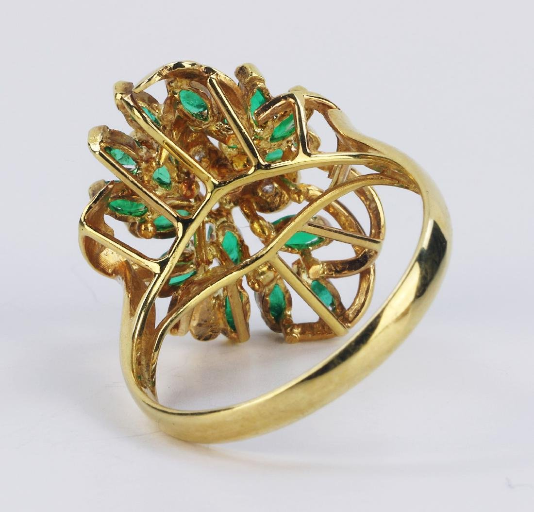 AN EMERALD & 14K GOLD RING - 2
