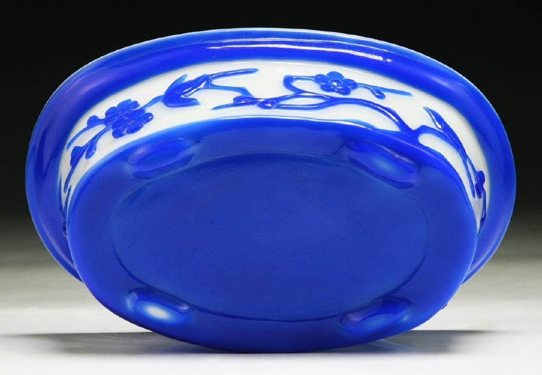 A Chinese Overlay Peking Glass Bowl - 4