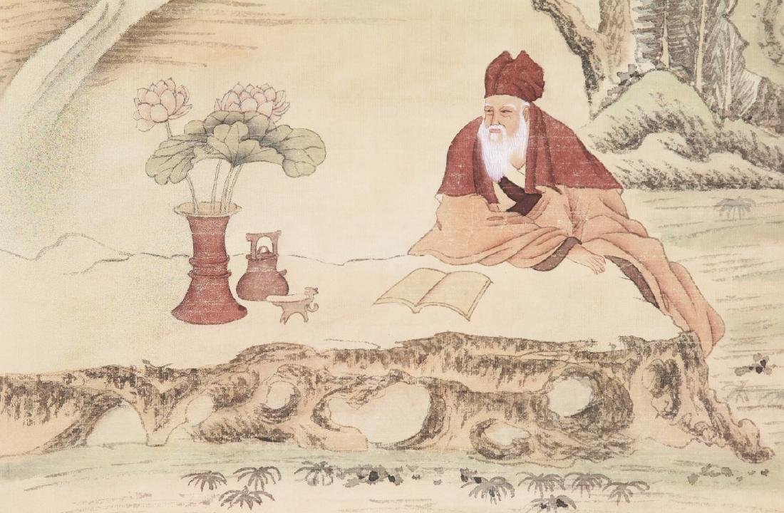 A Chinese Paper Painting Scroll By Wu Dazheng - 2
