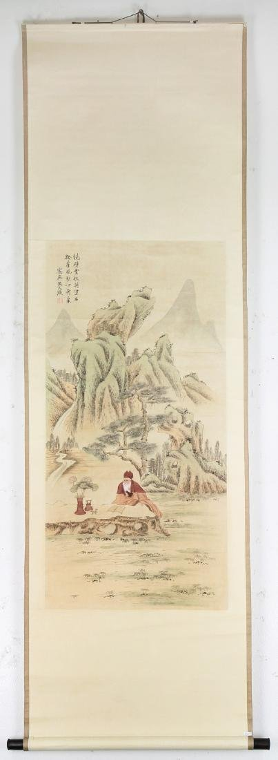 A Chinese Paper Painting Scroll By Wu Dazheng - 4
