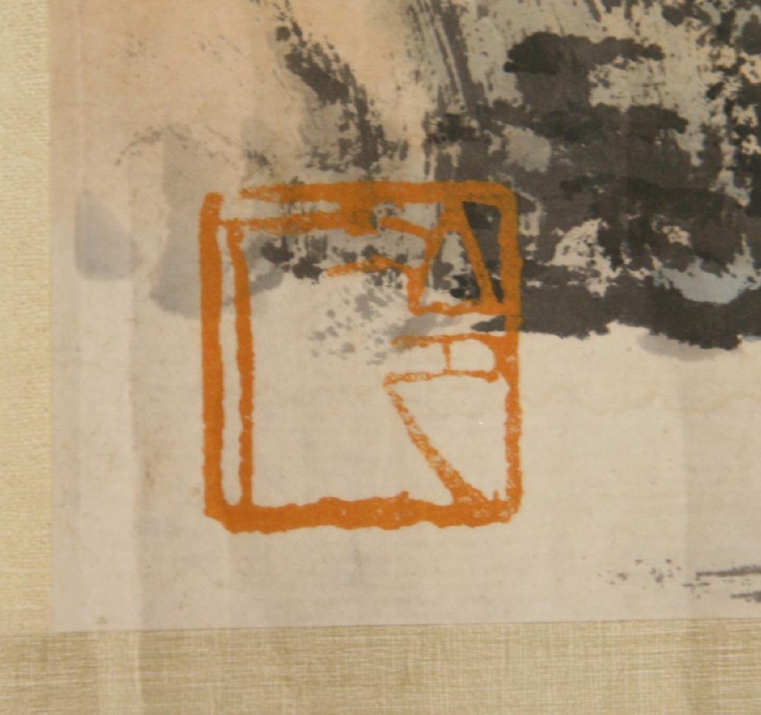 A LONG CHINESE HORIZONTAL PAPER HANGING PAINTING SCROLL - 7