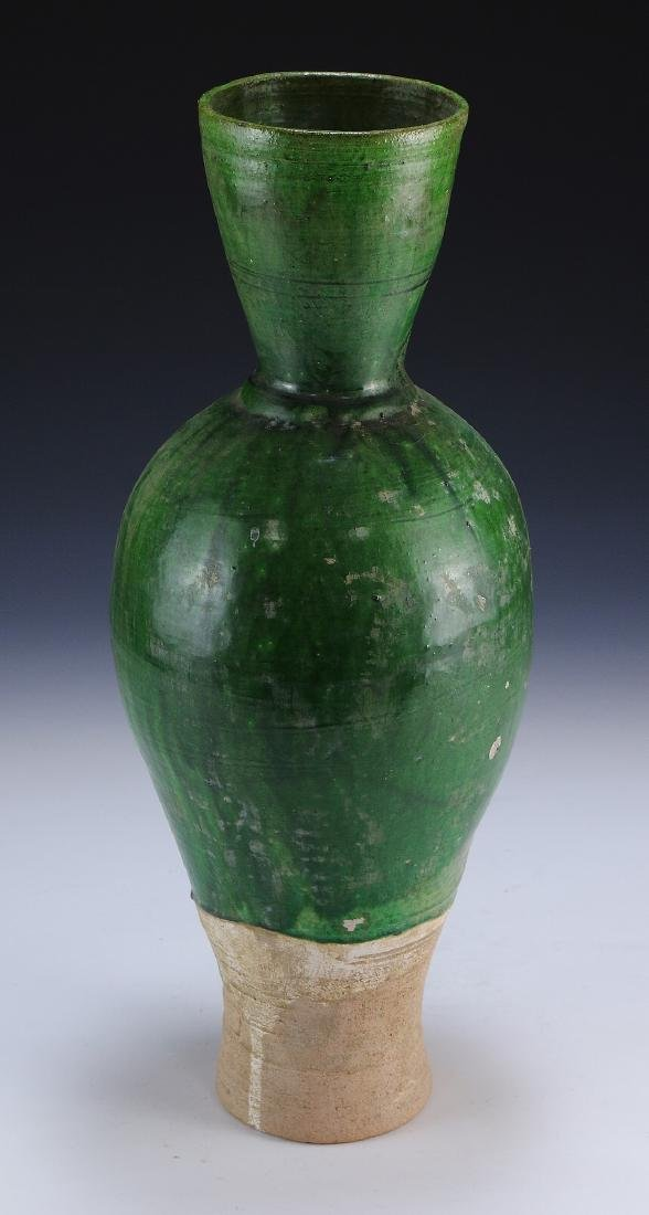 A Chinese Green Glazed Porcelain Vase