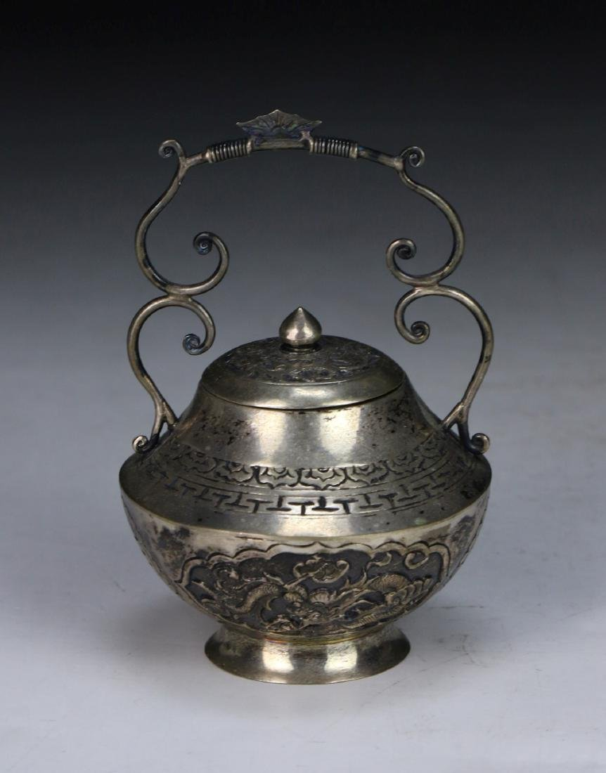 A Chinese Silver Shaker