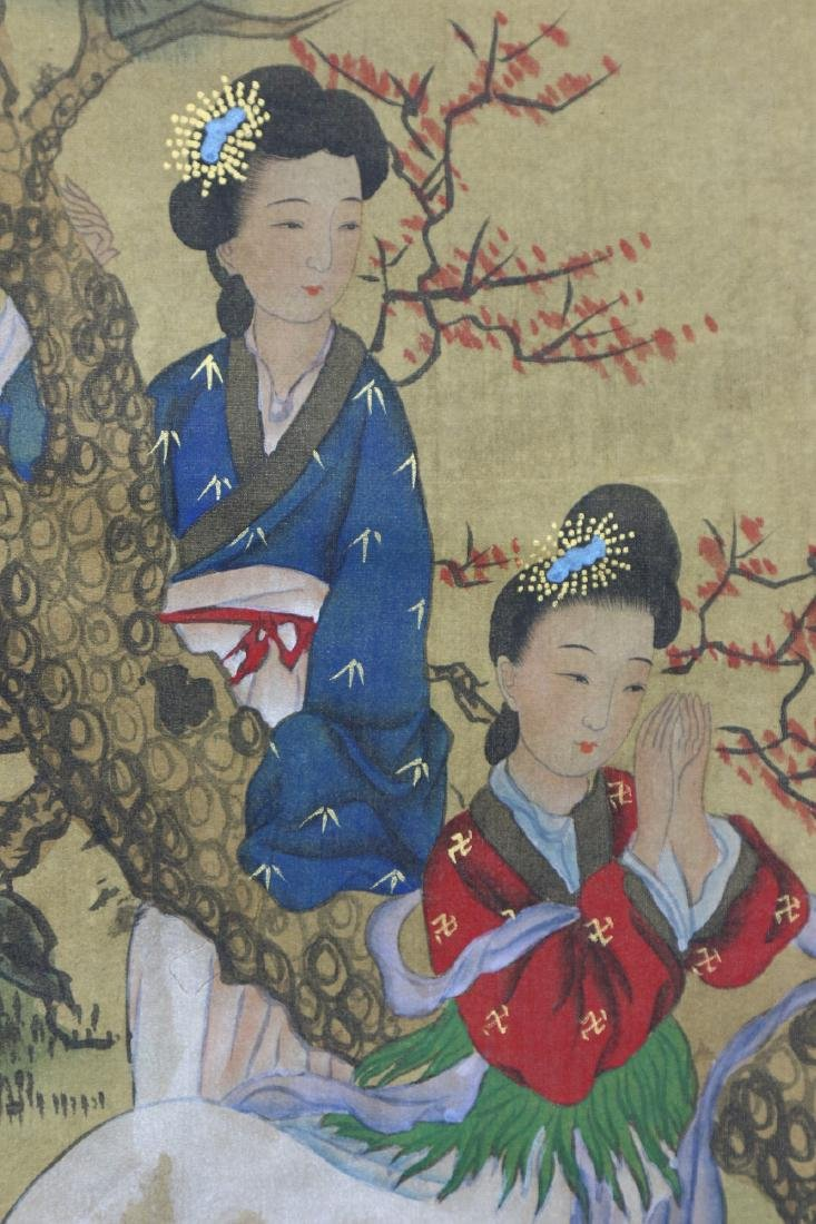 A JAPANESE PAPER HANGING PAINTING SCROLL - 2
