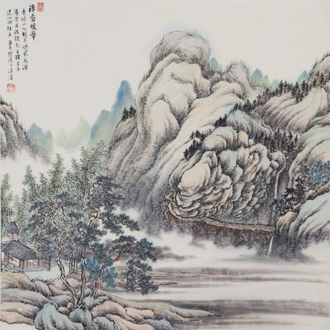 A CHINESE PAPER PAINTING BY LU, HUI