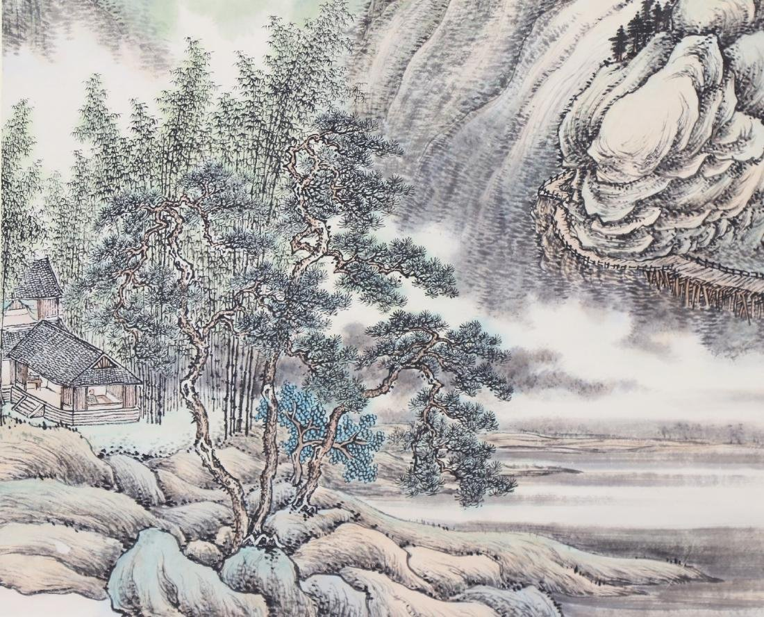A CHINESE PAPER PAINTING BY LU, HUI - 2
