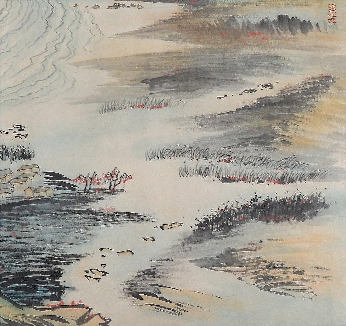 A MASSIVE CHINESE PAPER HORIZONTAL PAINTING SCROLL - 4