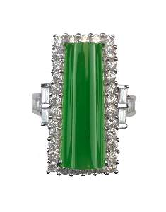 A MAGNIFICENT GIA CERTIFIED SIXTY-CARAT JADEITE AND