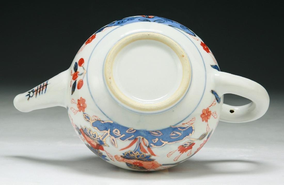 BLUE & WHITE UNDERGLAZED RED PORCELAIN TEAPOT - 4