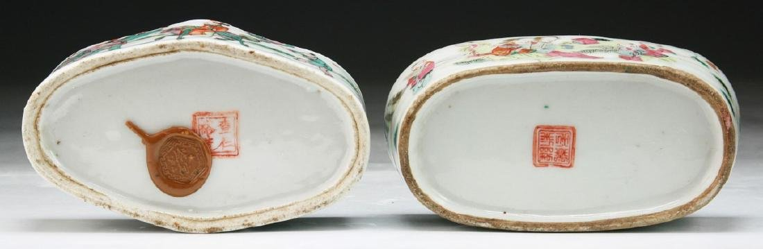 TWO (2) CHINESE FAMILLE ROSE PORCELAIN CRICKET CAGES - 5