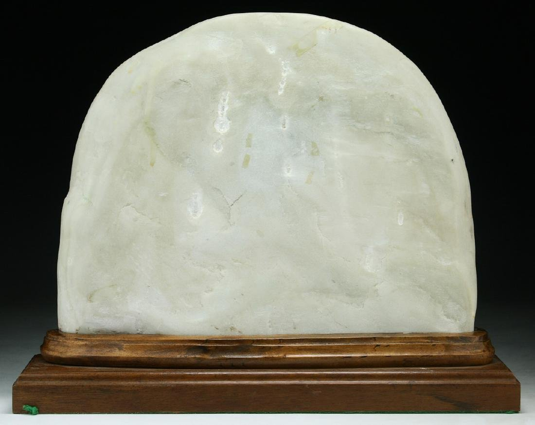 A Marble And Wood Table Screen - 3