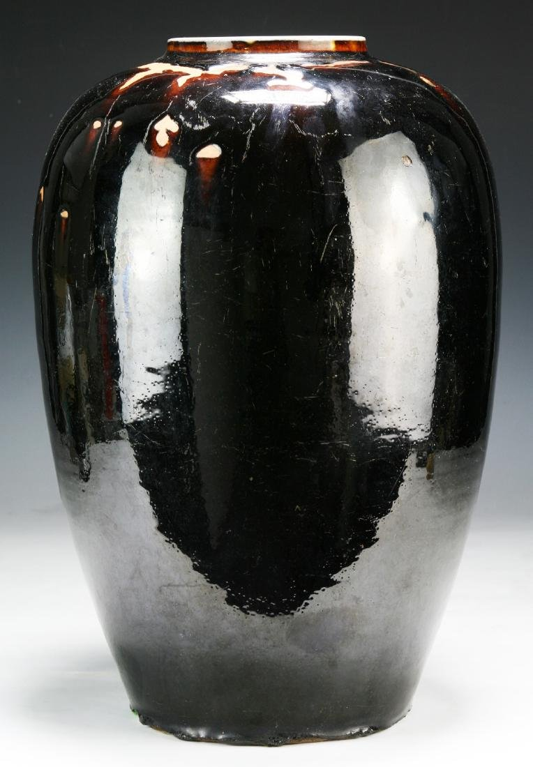 A Big Chinese Black Glazed Porcelain Vase