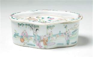 A Chinese Famille Rose Porcelain Cricket Cage