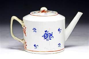 A Big Chinese Qing Export Gilt Porcelain Teapot