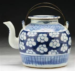 A Chinese Blue White Porcelain Teapot