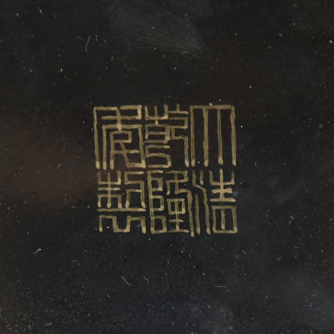 A BIG CHINESE GILT FAMILLE ROSE PORCELAIN GU VASE - 6