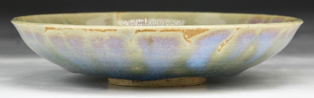 A CHINESE JUNYAO GLAZED PORCELAIN PLATE - 2