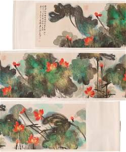 A MASSIVE PAPER PAINTING SCROLL BY ZHANG, DAQIAN