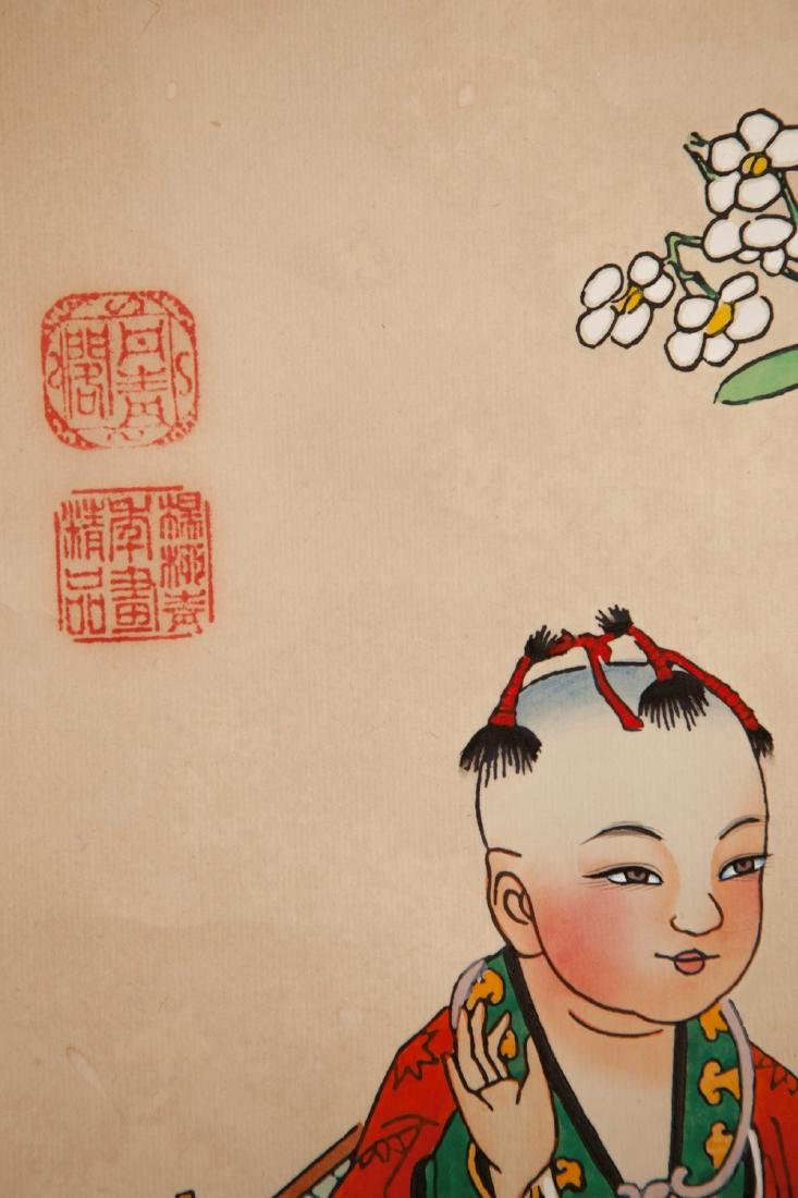 A CHINESE PAPER HANGING PAINTING SCROLL BY YANG LIU - 2